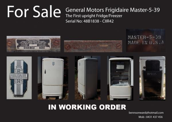 General motors frigidaire master 5 39 antique appraisal Fridge motors for sale